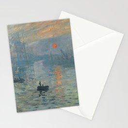 Impression, Sunrise, Claude Monet, 1872 Stationery Cards