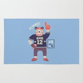 American Football Bear Rug