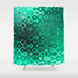 Wobbly Dots Light in mint green Shower Curtain