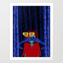 It's in the trees Art Print