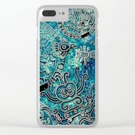 Aztec blues2 Clear iPhone Case