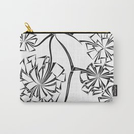 Sparse Flower Carry-All Pouch