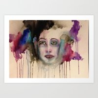 depression Art Prints featuring Depression by Hannah Brownfield Camacho