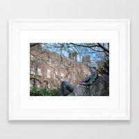 oscar wilde Framed Art Prints featuring Oscar Wilde by Psphotographydublin