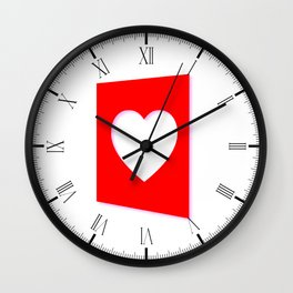 Valentine Heart Background Wall Clock