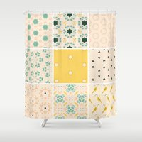 quilt Shower Curtains featuring Grandma's Quilt by 83 Oranges™