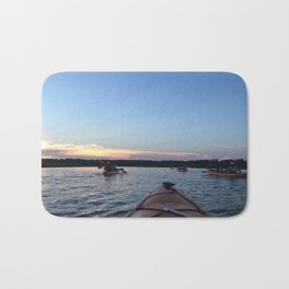 Sunset Kayaking - Color Photograph Bath Mat