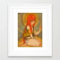 santa monica Framed Art Prints featuring Santa Monica by Daytwah