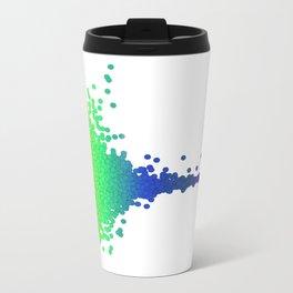 Rainbow Volcano Coral Genes Metal Travel Mug
