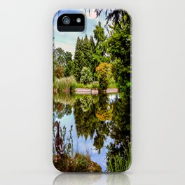 Lakeside reflections. iPhone Case