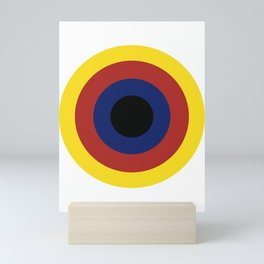 Primary Colors Circles Art Mini Art Print