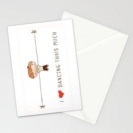 I love dancing boy Stationery Cards