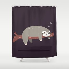 Sloth card - good night Shower Curtain
