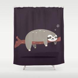 Sloth card - good night Shower Curtain