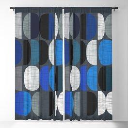 Mo Moons Blue Blackout Curtain