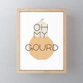 Oh My Gourd Framed Mini Art Print