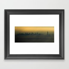 New York, NYC from air Framed Art Print