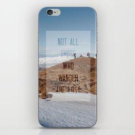 adventure awaits iPhone Skin