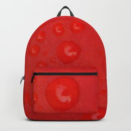Deep Red Lily Petal and Raindrops Backpack