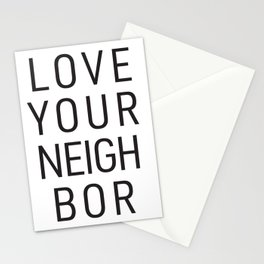 Love Your Neighbor Stationery Cards