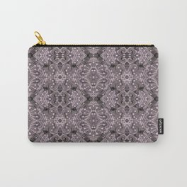 Wool Lace Bohemian Pattern Fiber Texture Taupe Mauve Carry-All Pouch