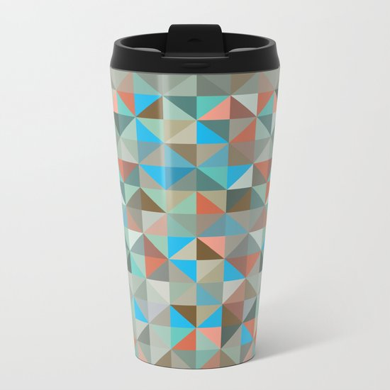 Aquamarine Metal Travel Mug