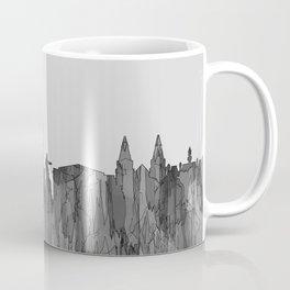 Aberdeen, Scotland Skyline - Navaho B&W Coffee Mug