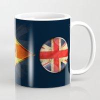 british flag Mugs featuring British by ilustrarte