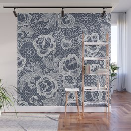 Lace. Roses and Heart. Wall Mural