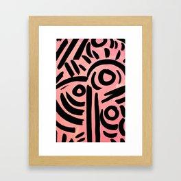Pink Tribal Graffiti Framed Art Print