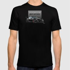 Porsche 911 GT3 RS in Black Mens Fitted Tee Black MEDIUM