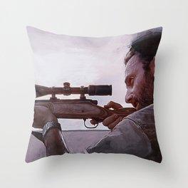 Rifleman Rick Grimes - The Walking Dead Throw Pillow