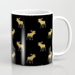 Gold moose pattern Coffee Mug
