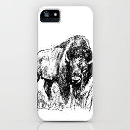 Buffalo Sketch iPhone Case