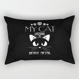 My Cat Listens to Heavy Metal Shirt Rectangular Pillow