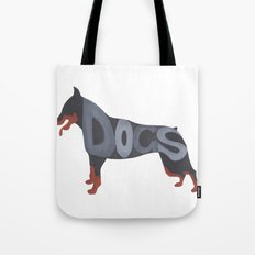 Dogs Typography Tote Bag