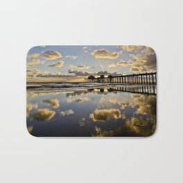 Surf City Sunsets 11/25/15  ~  Sunset at the Huntington Beach Pier Bath Mat