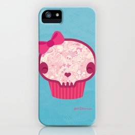 Cupcake Skull iPhone Case