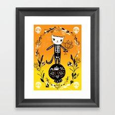 Day of the Dead Cat  Framed Art Print