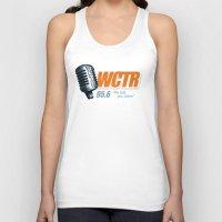 west coast Tank Tops featuring West Coast Talk Radio by Popp Art