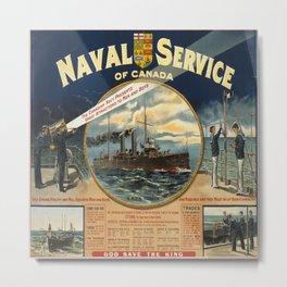 Vintage poster - Naval Service of Canada Metal Print