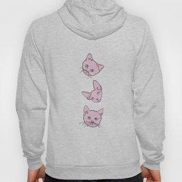 Three pink cats illustration Hoody