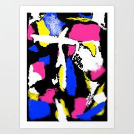Abstract Splash in Black Art Print