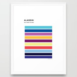 The colors of - Aladdin Framed Art Print