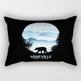Asheville Blue Ridge Mtns - AVL 1 Black Rectangular Pillow