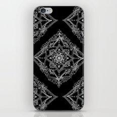 Mandala Doodle Pattern in Black & White iPhone Skin