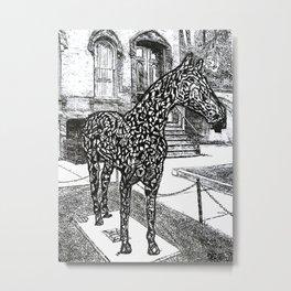 """Saratoga  Paint"" Saratoga Springs Horse Racetrack, EQUESTRIAN, thoroughbred horses Metal Print"