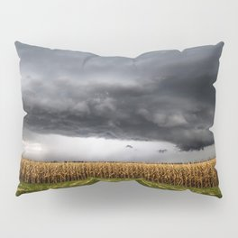Corn Field - Storm Over Withered Crop in Southern Kansas Pillow Sham