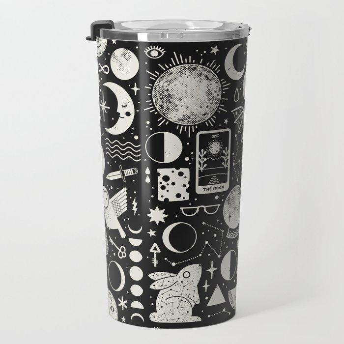 Lunar Pattern: Eclipse Travel Mug