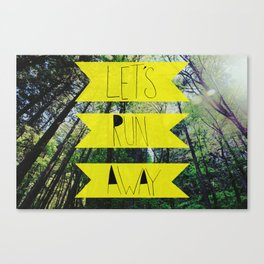 Let's Run Away: Forest Park Canvas Print